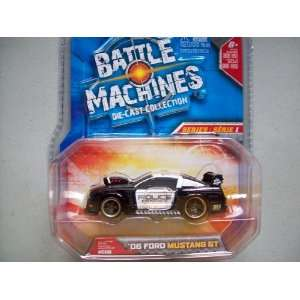 Jada Battle Machines 2006 Ford Mustang GT Police Car Toys