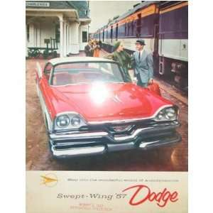 1957 DODGE Swept Wing Sales Brochure Literature Book