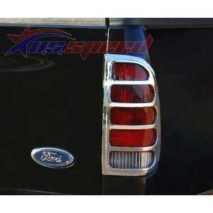 1997 2003 Ford F150 Chrome Tail Light Covers 2PC Automotive