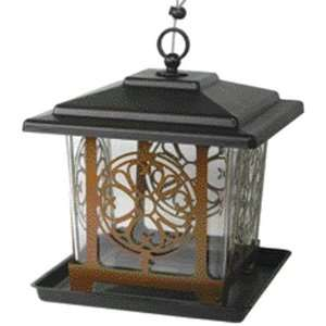Hearts Medallion Bird Feeder   Black