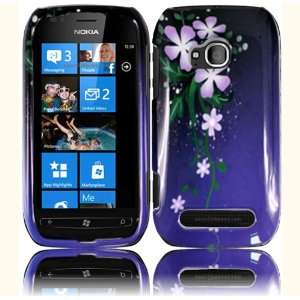 Flower Hard Case Cover for Nokia Lumia 710 Cell Phones & Accessories