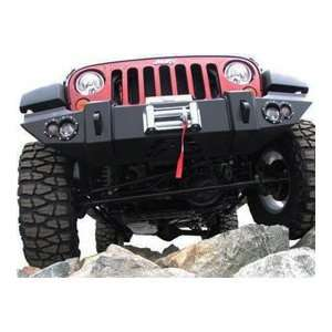 Lifestyle Winch Bumper w/ No Grill Guard 2007 2010 Jeep Wrangler JK