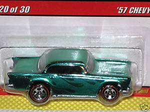 2007 Hot Wheels Classics Series 3 #20 57 Chevy   Green