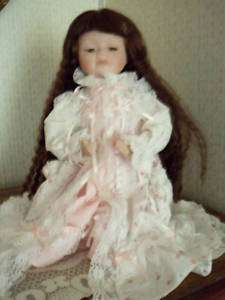 Treasures In Lace Porcelain Doll  Bed Time Prayer