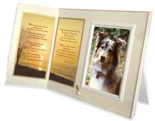 Poem Frame Pet Loss Sympathy Gift Warm White with Foil Accent