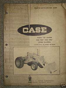 Case 680 Construction King Tractor Parts Manual