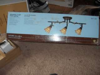 Hampton Bay 3 Light 24 in. Bronze Track Lighting Fixture 947 347 NEW