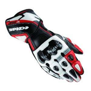 SPIDI CARBO 3 LEATHER RACE GLOVE WHITE/RED 3XL Automotive