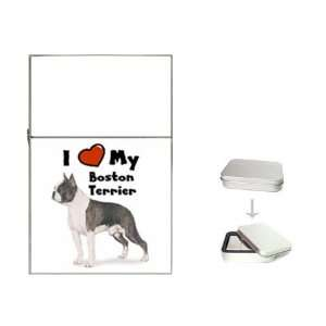 I Love My Boston Terrier Flip Top Lighter Health