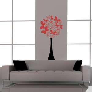 Butterfly Tree Wall Vinyl Decal Stickers