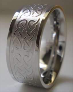 Stainless Steel Ring Celtic Knot Wedding Band Size 9