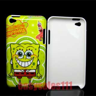 For iPod Touch 4 4th 4G 2PCS Sponge Bob SquarePants Case SpongeBob