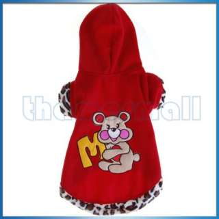 Pet Dog Puppy Apparel Clothes Hoodie Warm Coat Cute New