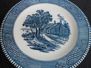 CURRIER AND IVES ROYAL CHINA SET BLUE 75 Dishes Plates Kitchen Sets