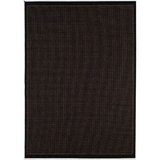 Couristan Recife Saddle Stitch Black Cocoa Rug Decor