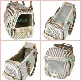 Pet Dog Cat Carrier Tote Bag Handbag Stripe Fashion ★