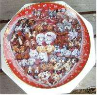 FRANKLIN MINT POODLE & DOGS PUPPIES LOVE PLATE