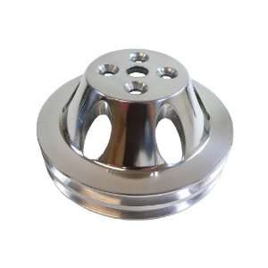 Racer Performance Chevy Big Block Polished Aluminum Water Pump Pulley