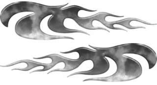 Motorcycle Truck ATV Fire Gray Flame Decals FL61