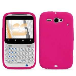 Premium Hot Pink Silicone Soft Skin Case Cover + Atom LED