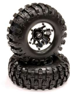 Alloy Machined bead lock 1.9 Size Wheel & Tire (2) axial scx 10 hilux