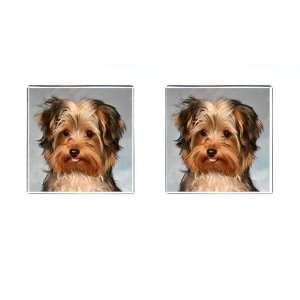 Yorkshire Terrier Puppy Dog 10 Square Cufflinks F0656