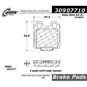 Rear StopTech Street Performance Brake Pads 309.07710 Automotive