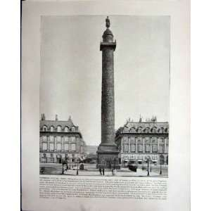 VENDOME COLUMN PARIS FRANCE NIAGARA FALLS CANADA