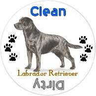 Labrador Retriever Dog Breed Profile Dishwasher Magnet