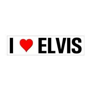 I Heart Love Elvis   Window Bumper Sticker Automotive