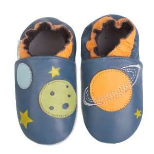 Momo Baby Soft Sole Baby Shoes   Planets Blue 18 24 Months