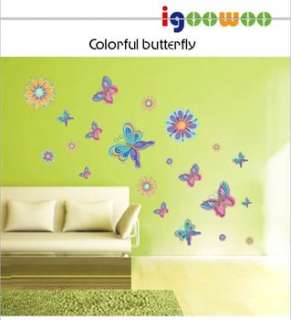 HUGE BUTTERFLIES Girls/Kids/Home Bedroom Wall Stickers With Several