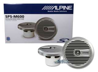 M600 6.5 2 WAY 220 WATT MARINE BOAT AUDIO SPEAKERS WATER RESISTANT