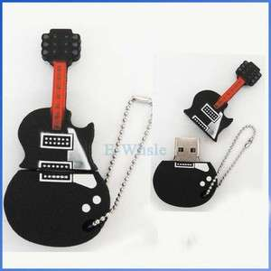 16G 16GB Black Guitar USB2.0 Flash Memory Stick Pen Drive High Quality