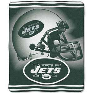 New York Jets Royal Plush Raschel NFL Blanket (Burst