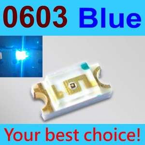 10 Pcs SMD SMT 0603 Super bright Blue LED lamp light RoHS Good New