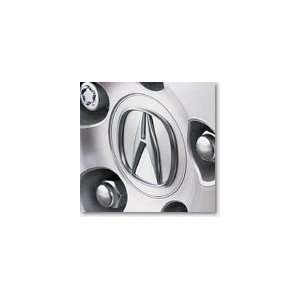 Genuine OEM Acura TSX Chrome Center Wheel Cap Emblems (Set