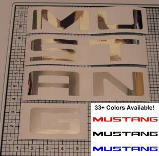 99 04 Mustang Rear Bumper Chrome Inlay Decal, 33+ Colors