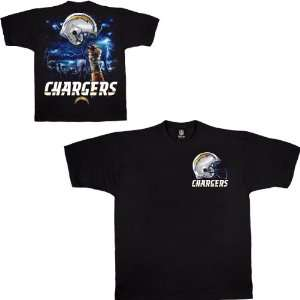Liquid Blue San Diego Chargers Sky Helmet T Shirt Medium