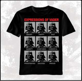 Vader Many Expressions Men T shirt tee top movie S/M/L/XL/2X