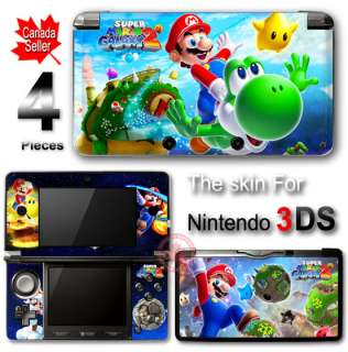 Super Mario Galaxy 2 DECAL SKIN STICKER COVER for 3DS