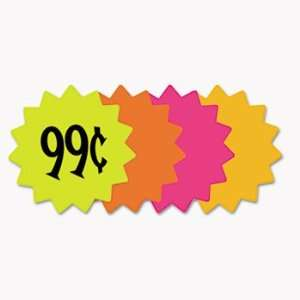 New   Die Cut Paper Signs, 4 Round, Assorted Colors, Pack of 60 Each