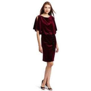 Jessica Simpson Womens Stretch Velvet Batwing Dress Clothing