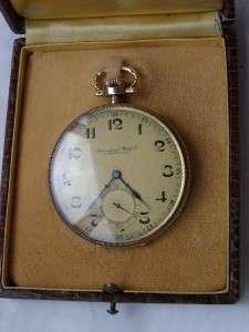 RRR Antique Art Deco IWC Schaffhausen gold pocket watch
