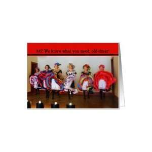 eight   Old West Dance Hall Girls Birthday Card Card Toys & Games