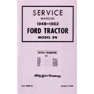 1949 1950 1951 1952 FORD 8N TRACTOR Owners Manual