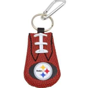 Pittsburgh Steelers Leather NFL Football Classic Keychain