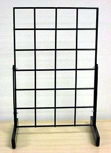 Pair of Freestanding Counter / Table Top Grid Rack Display 12x18