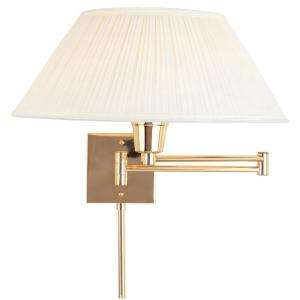 Hampton Bay Wall Mount Polished Brass Swing Arm Touch Light