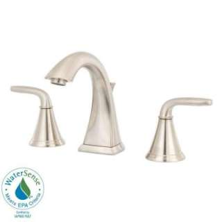 Pasadena 2 Handle High Arc 8 in. Widespread Bathroom Faucet in Brushed